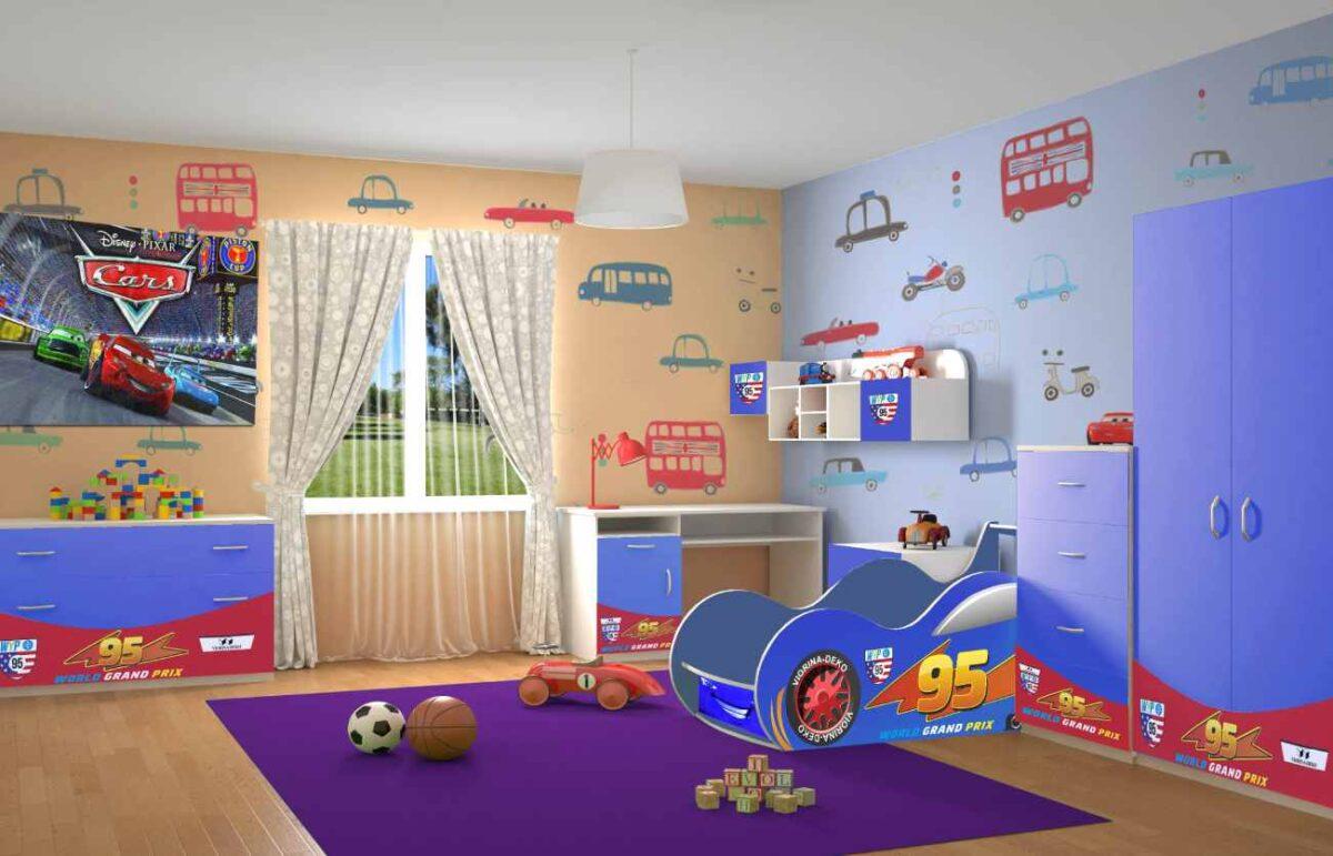 Детская комната Маквин Форсаж синяя