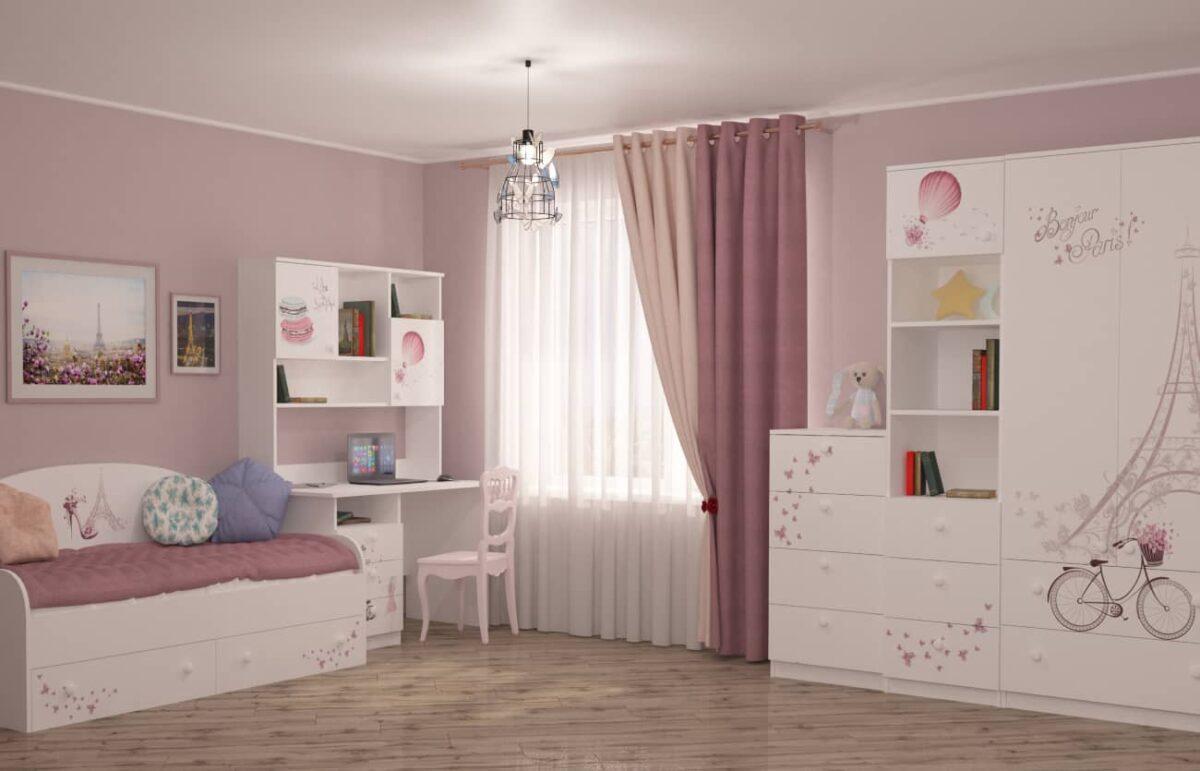 детская комната париж для девочки