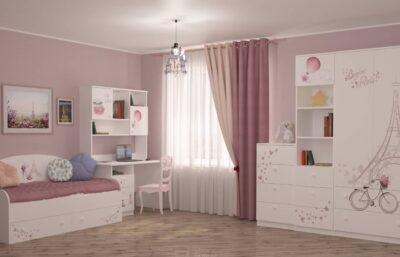 дитяча кімната париж для дівчинки