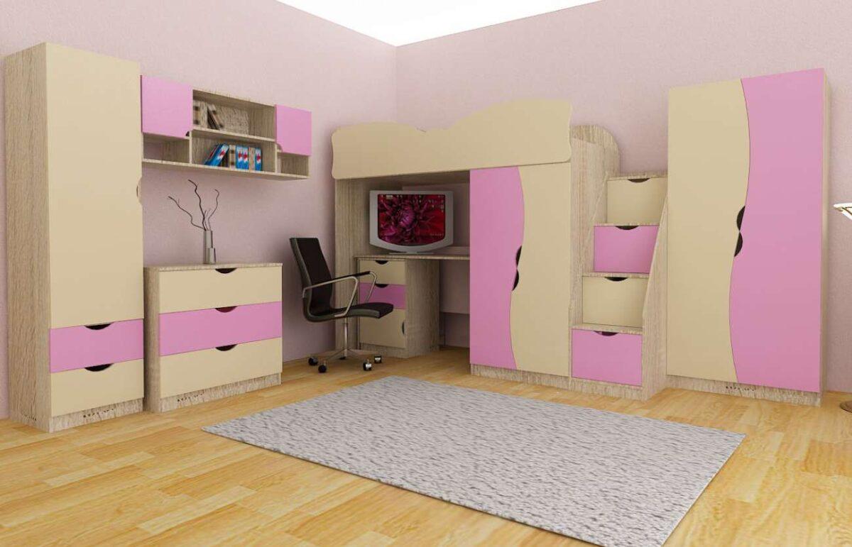 Детская комната Подростковая розовая