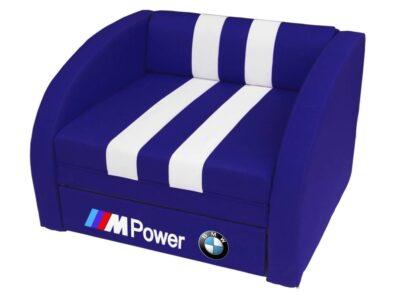 кресло кровать бмв синее