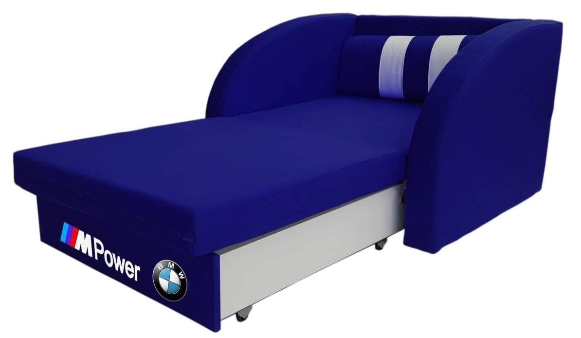 кресло кровать бмв синее раскладное
