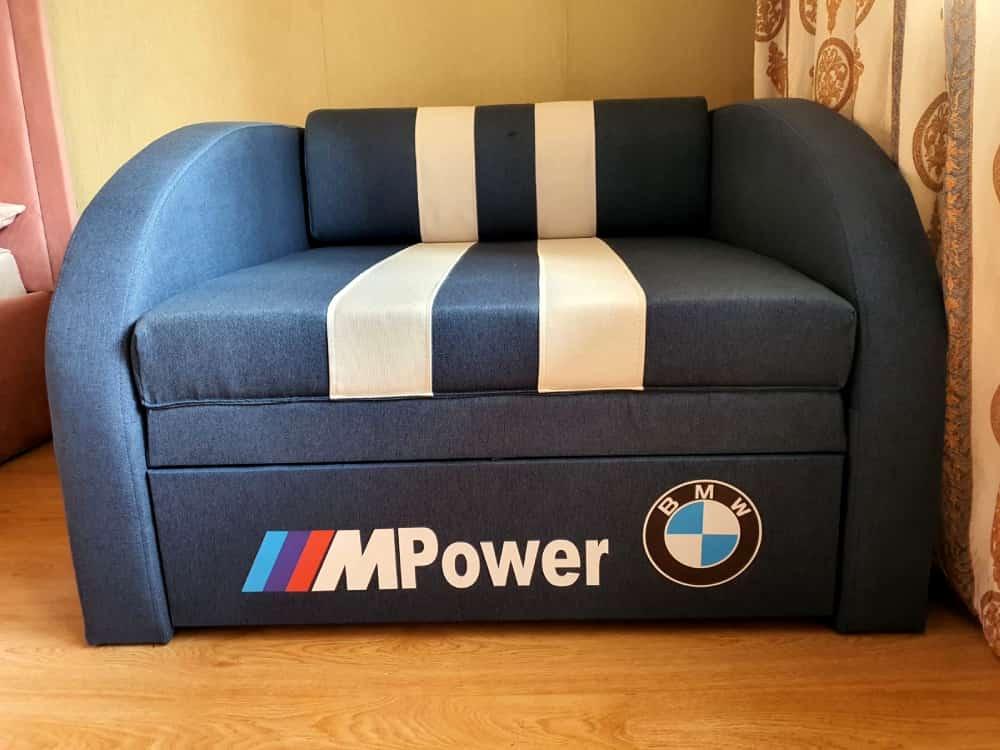кресло кровать смарт синее