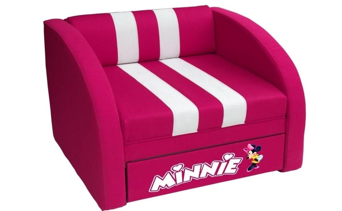 кресло кровать смарт минни розовое