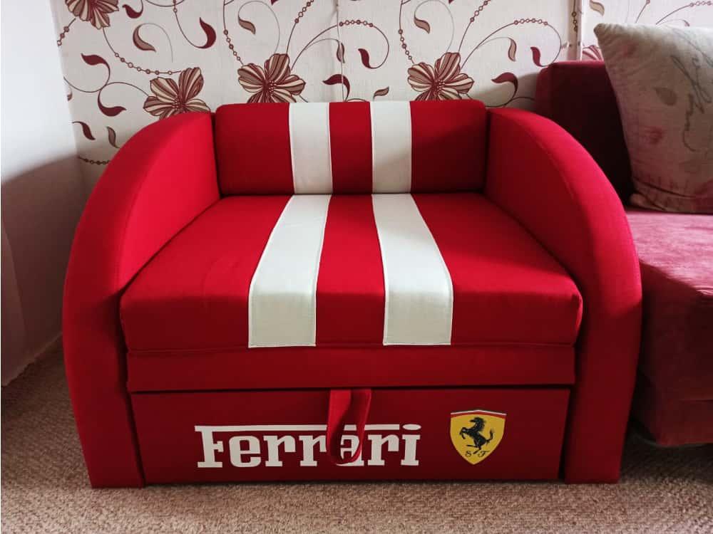 раскладное кресло кровать смарт красное