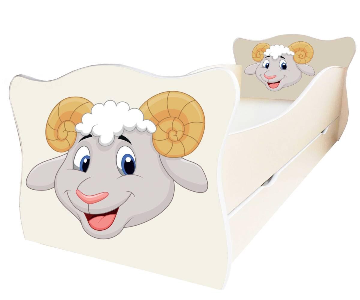 детская кровать с барашиком