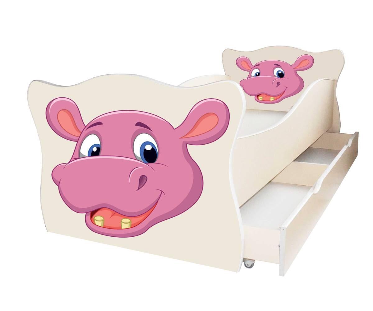 детская кровать с бегемотом