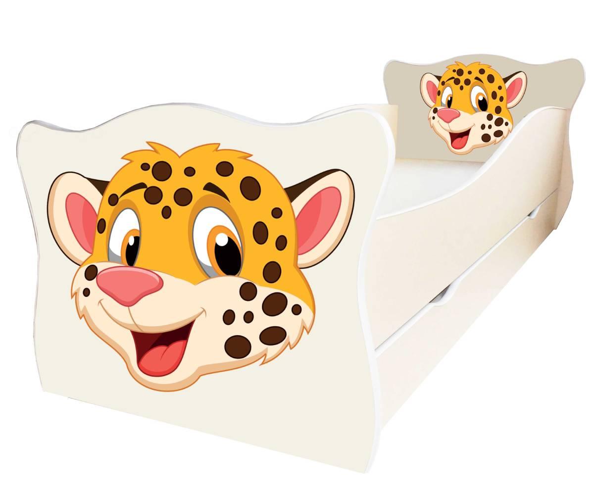 детская кровать с леопардом