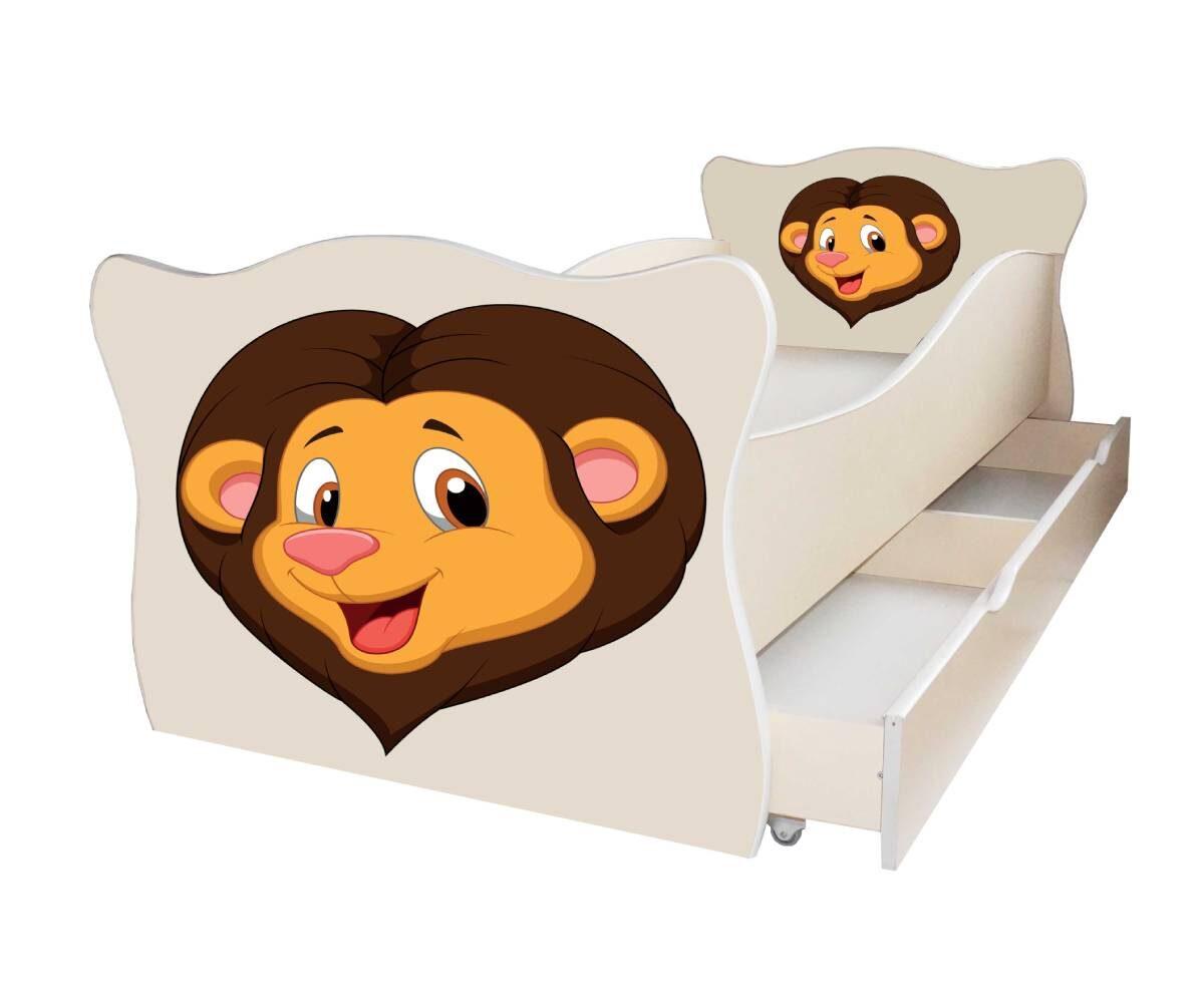 детская кровать со львом