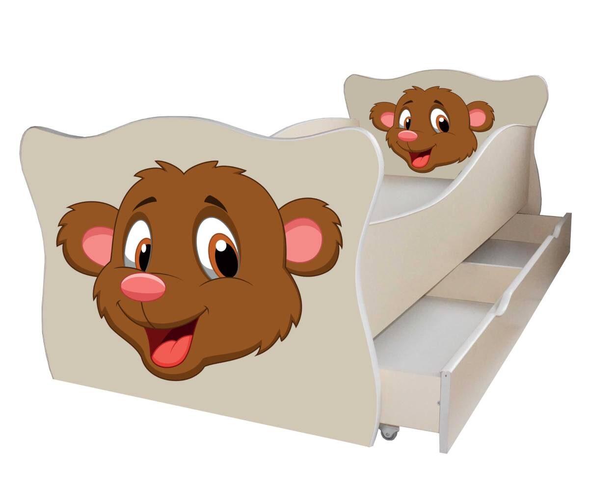 детская кровать с мишкой