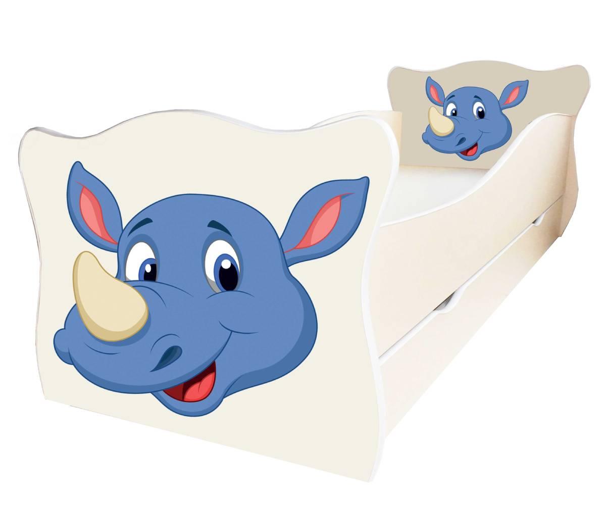 детская кровать с носорогом