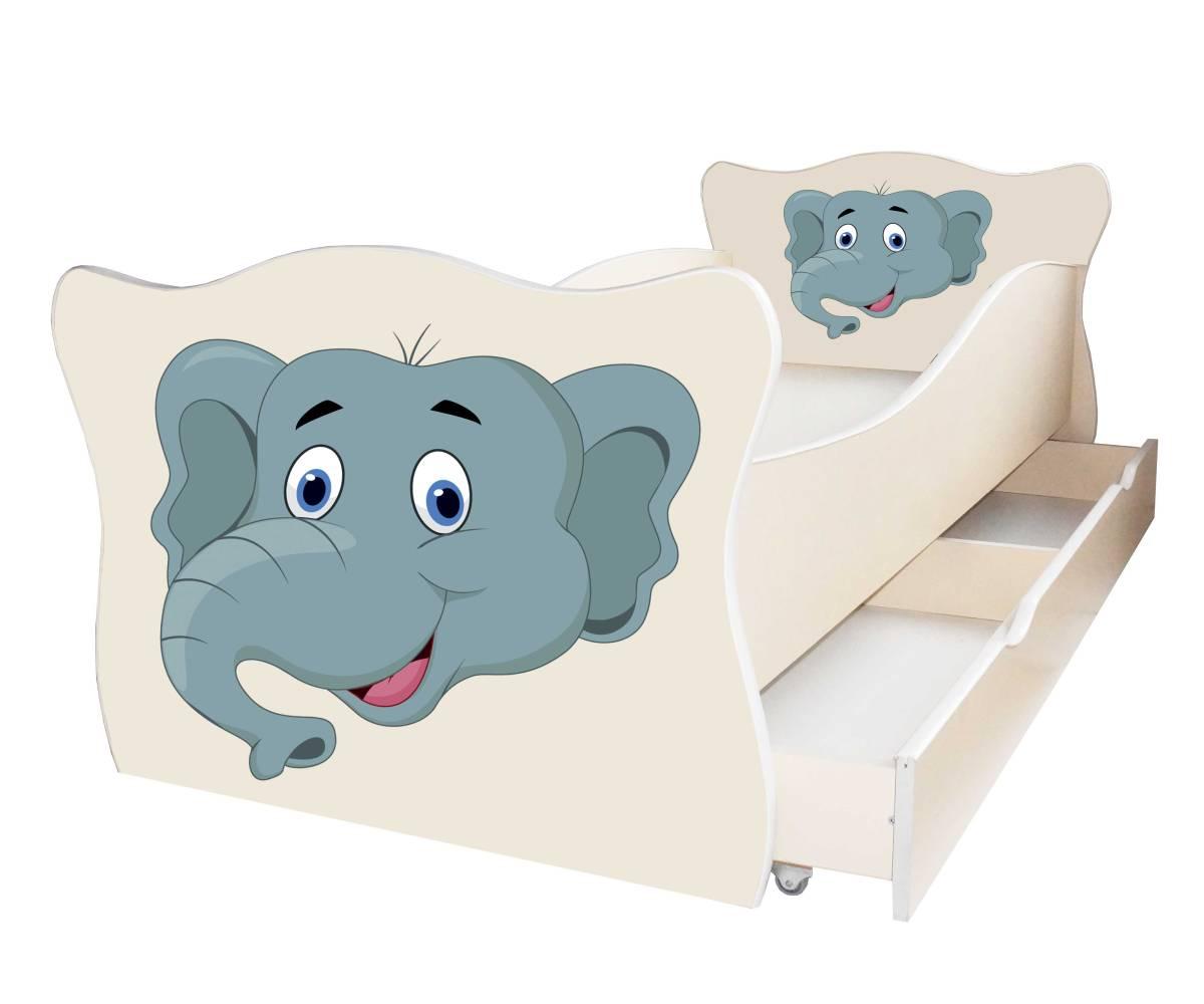 детская кровать со слоником
