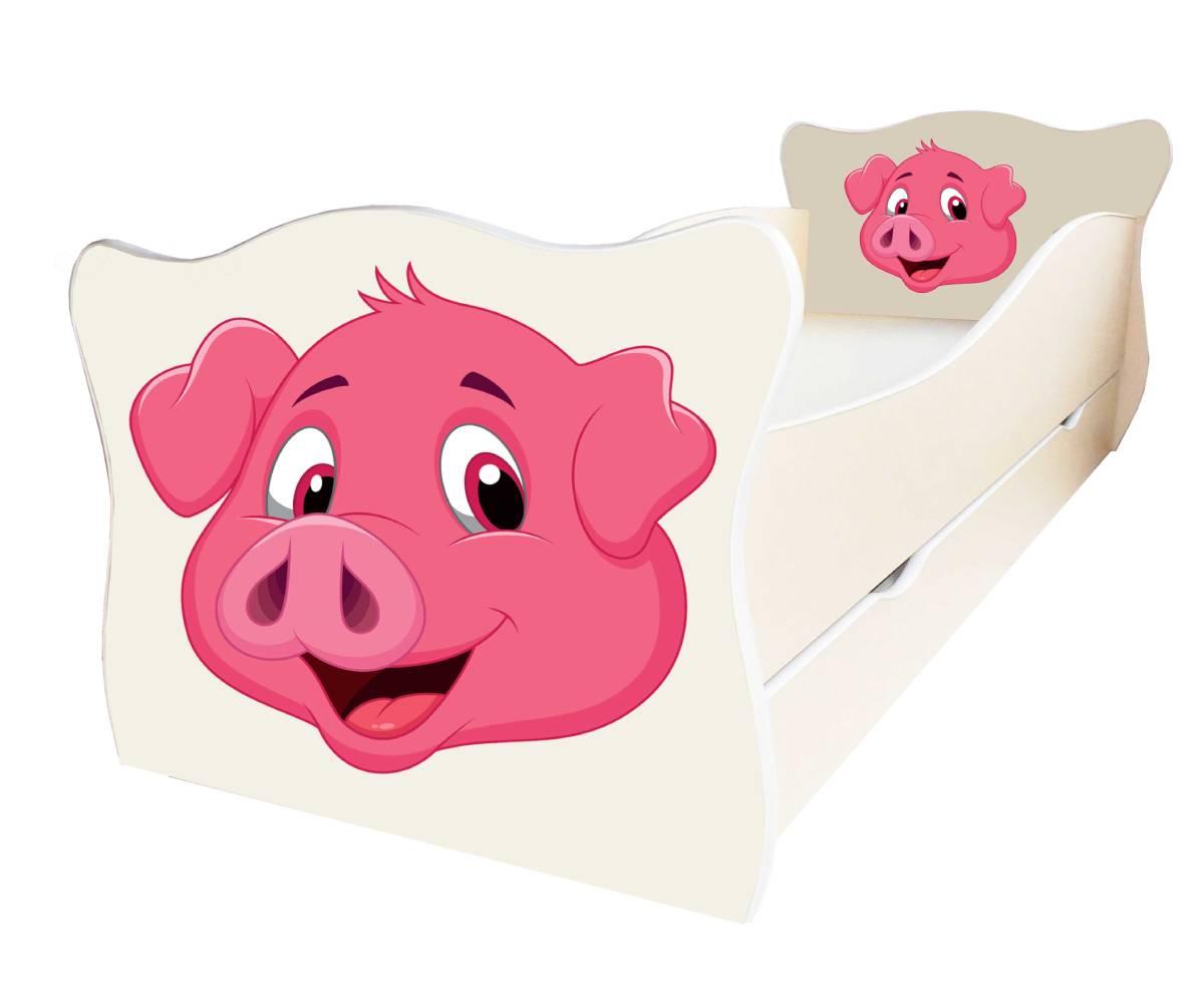 кровать со свинкой
