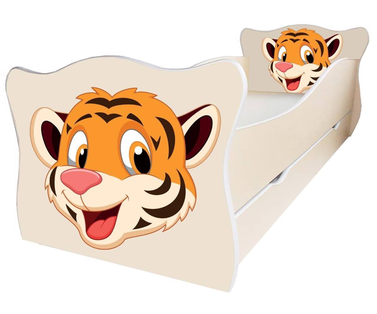 детская кровать с тигром