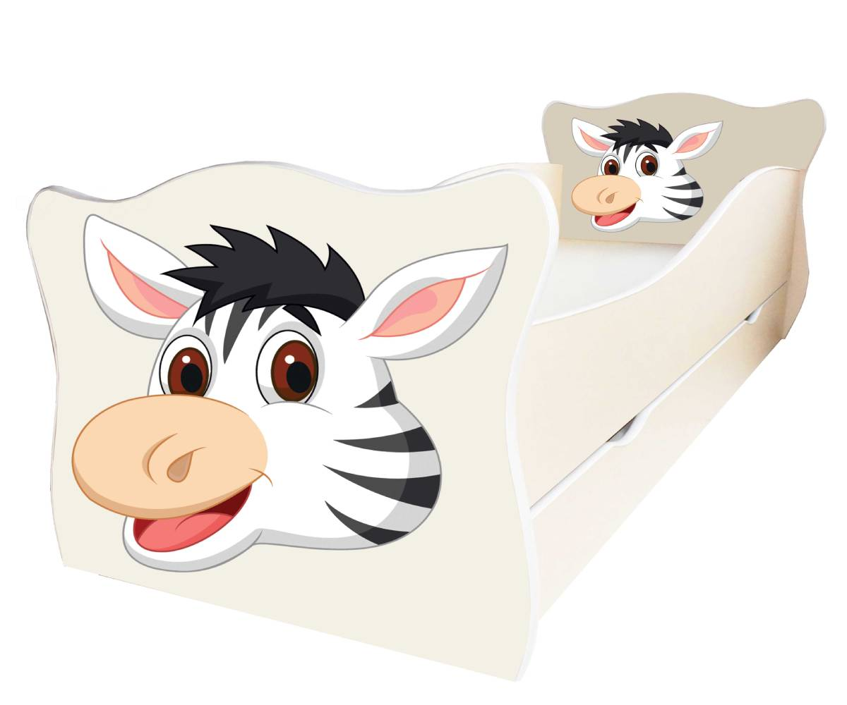 кровать с зеброй