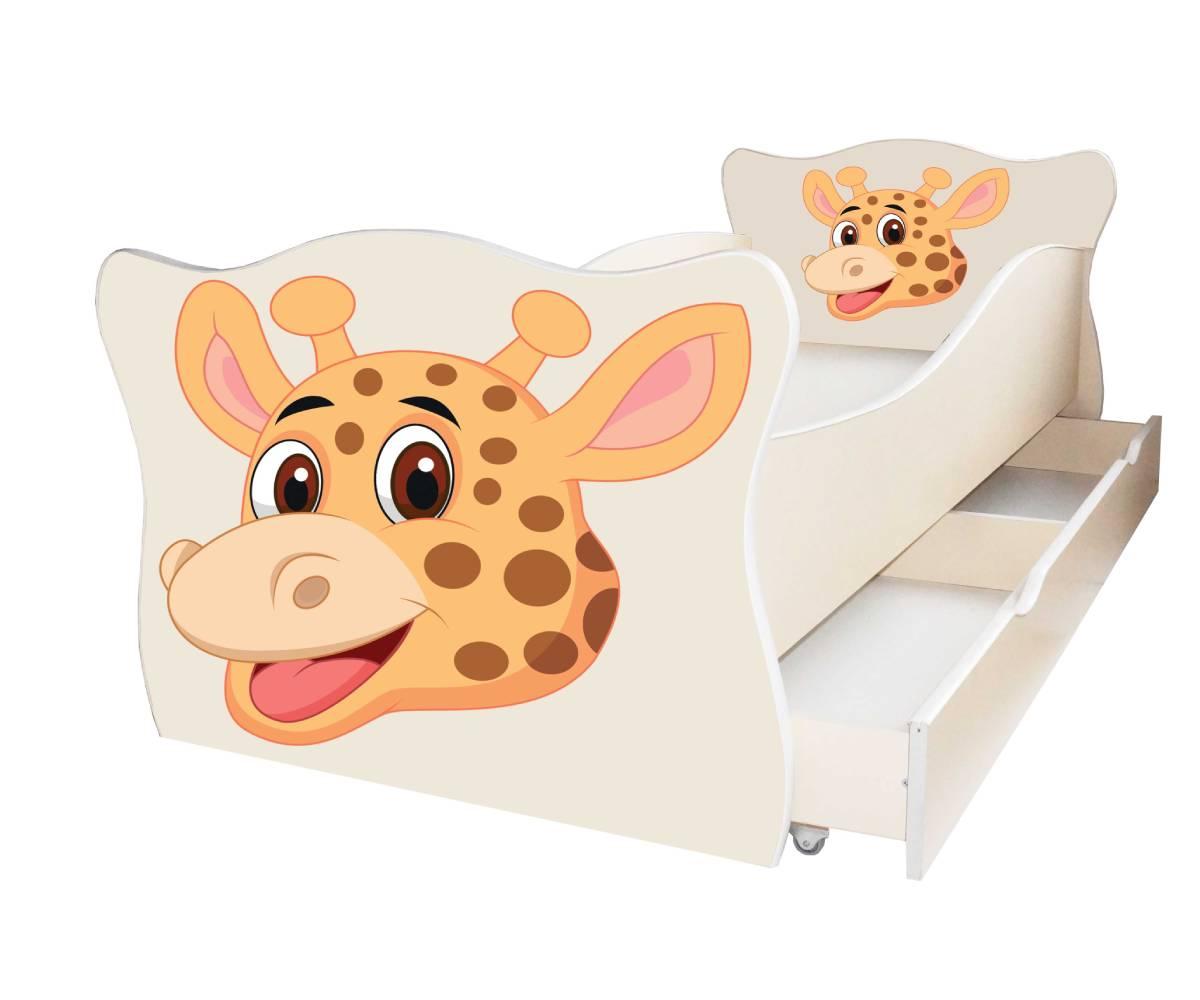 детская кровать с жирафом