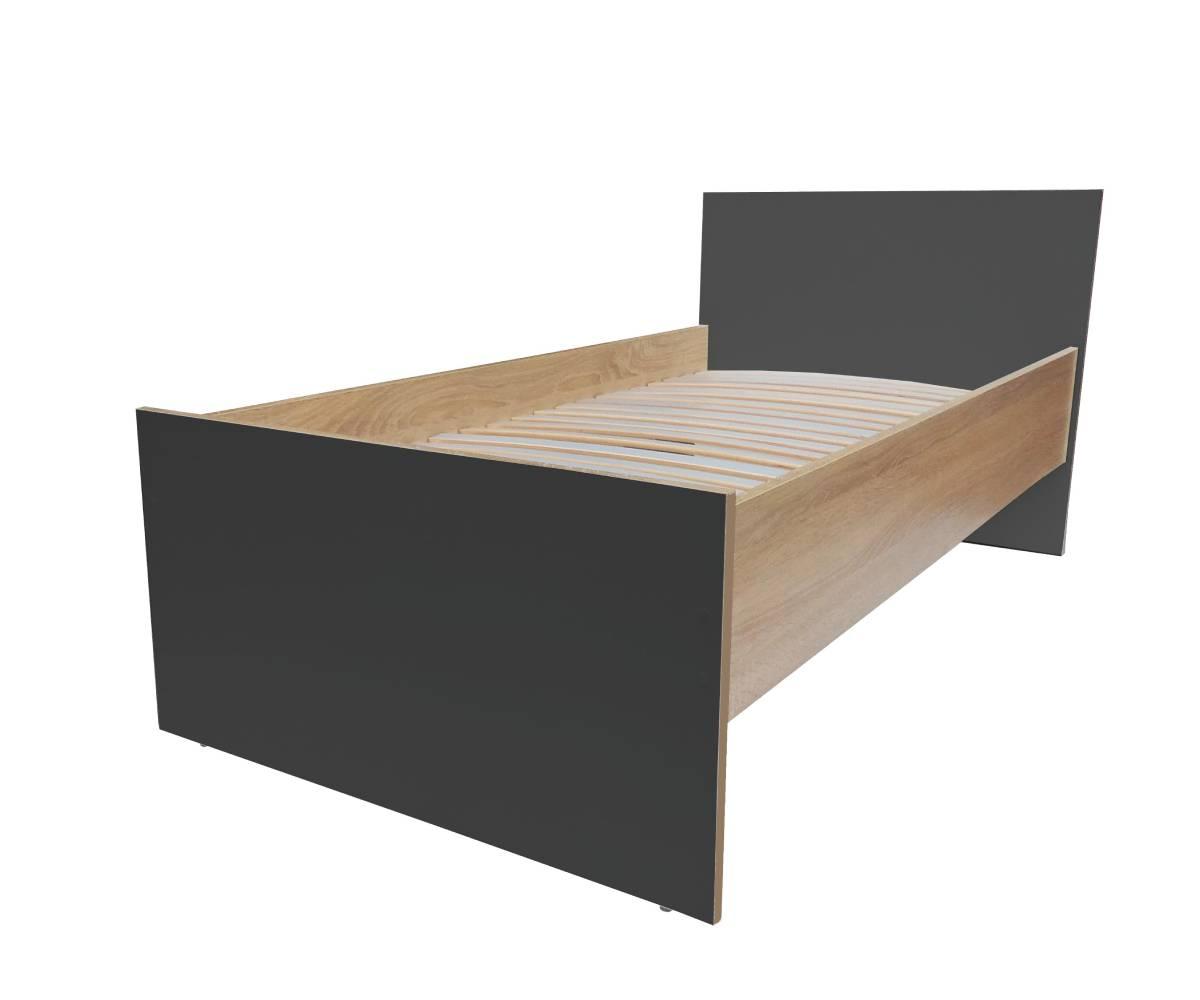 кровать эко черная