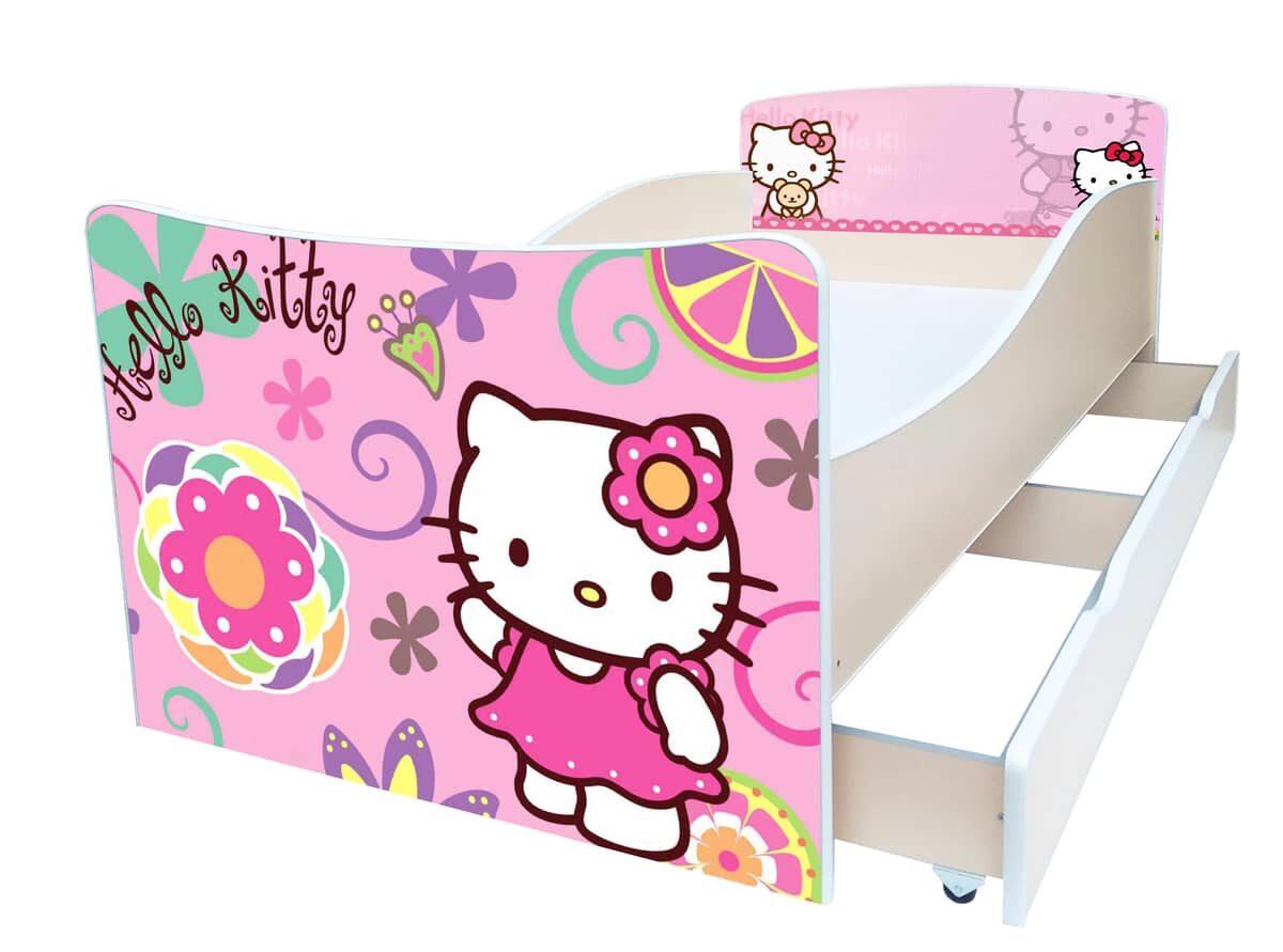 кровать китти киндер розовая