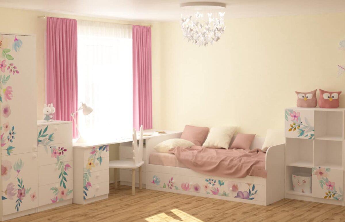 мебель в детскую цветы