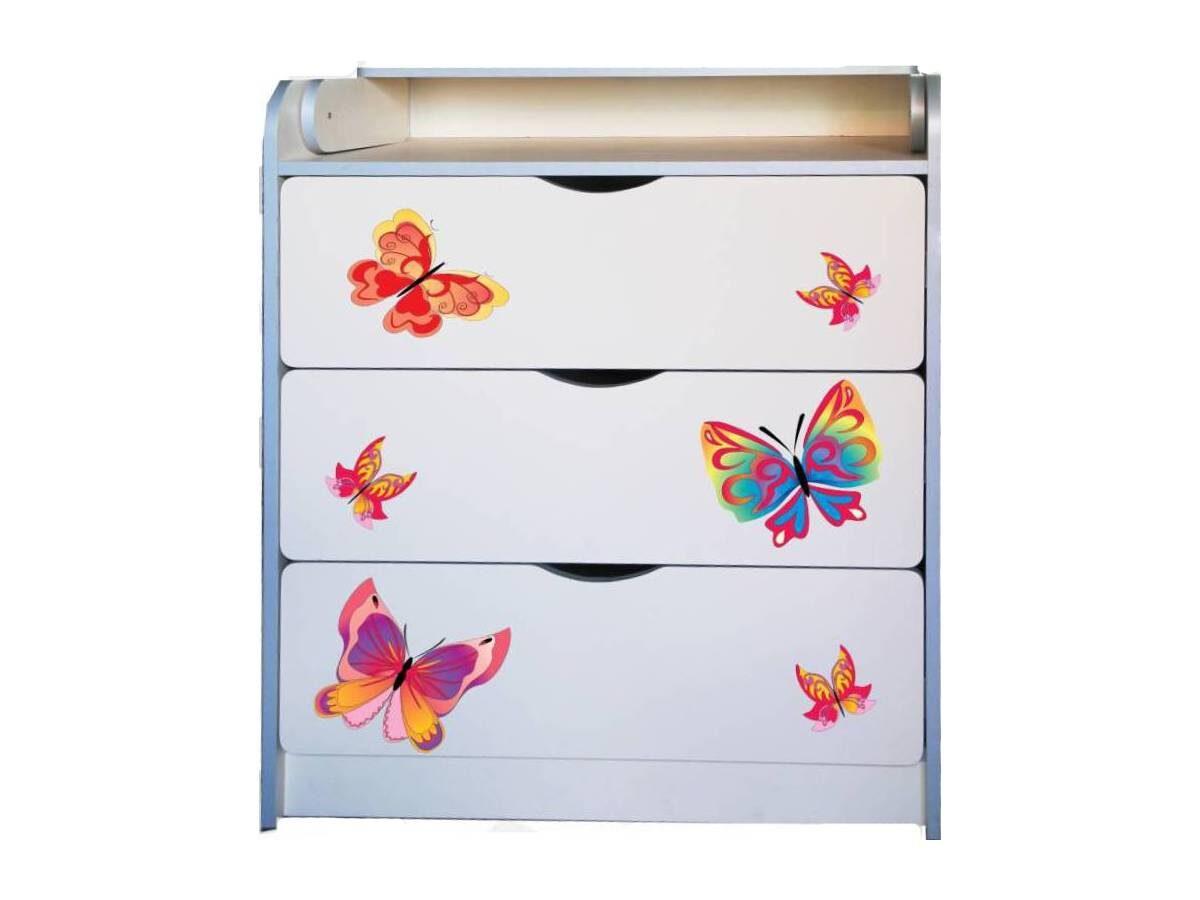 пеленальный комод с бабочками