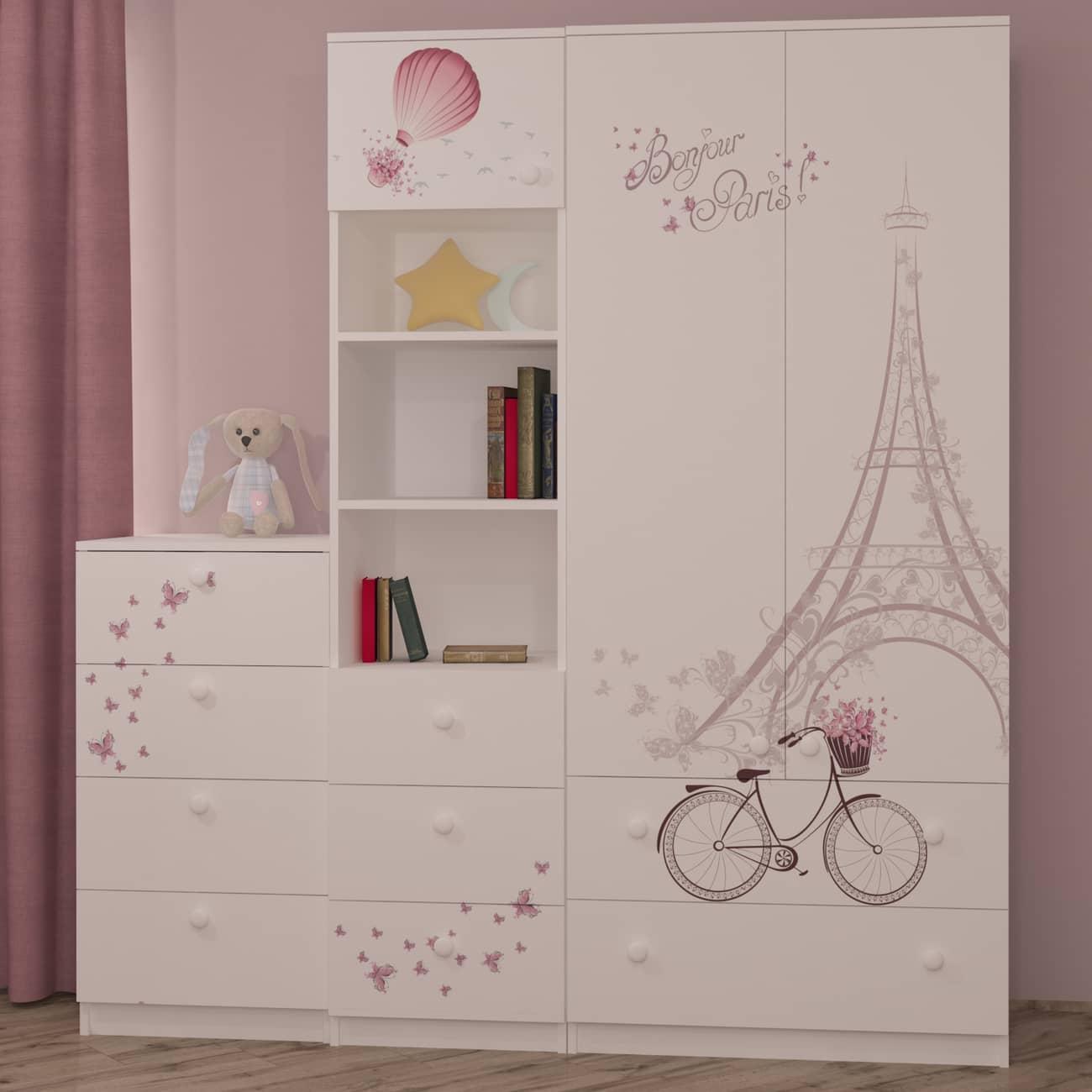 шкаф пенал и комод Париж