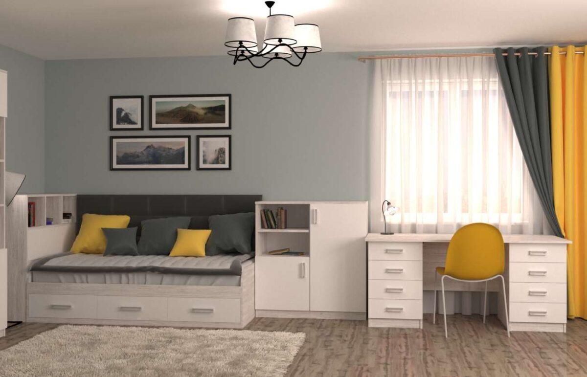 подростковая белая комната аляска белая