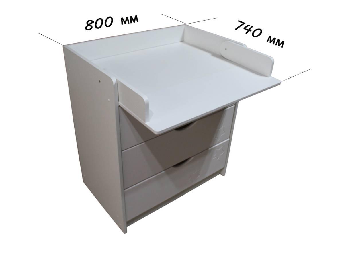размеры пеленального стола