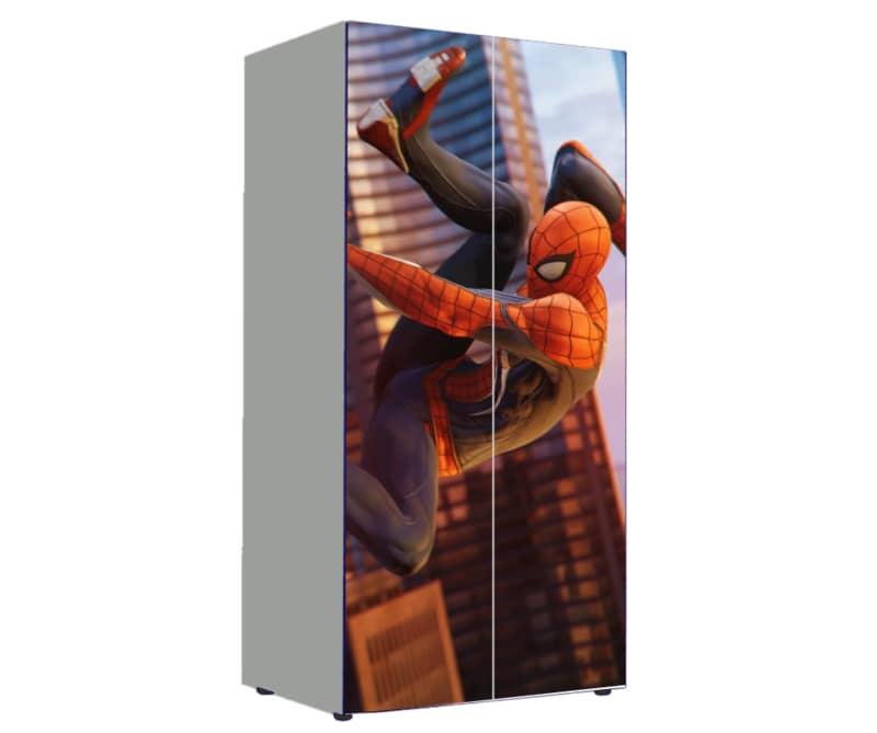шкаф в детскую человек паук