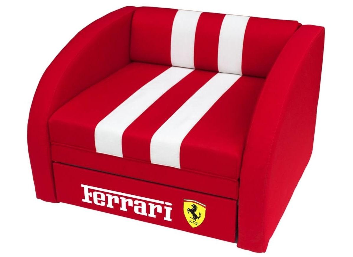 кресло кровать красное феррари