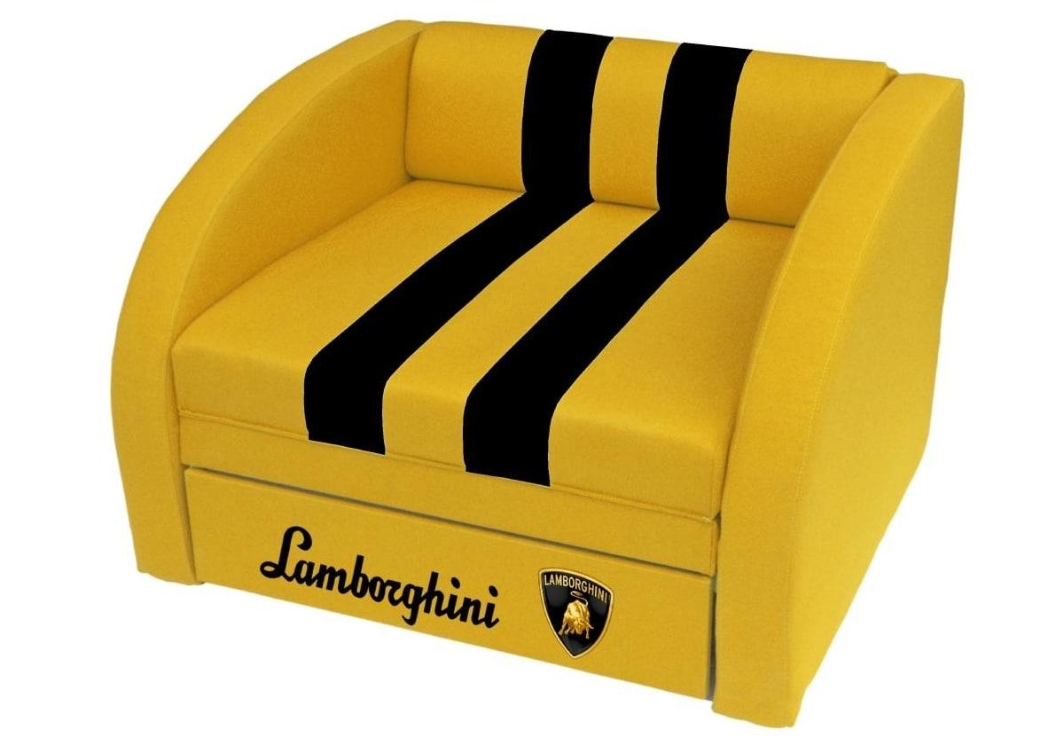 кресло кровать желтое ламборджини