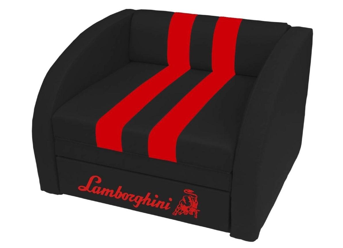 кресло кровать черное ламборджини