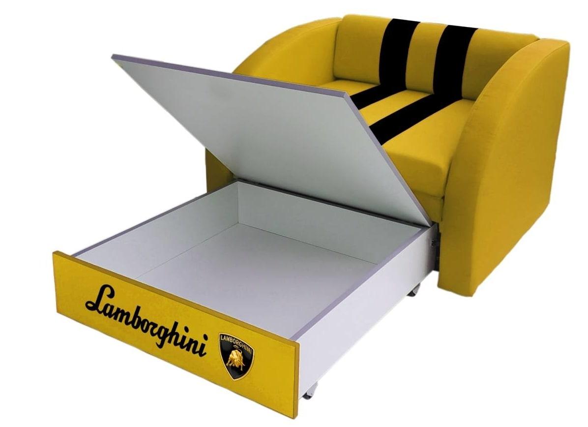 кресло кровать желтое раскладное ламборджини