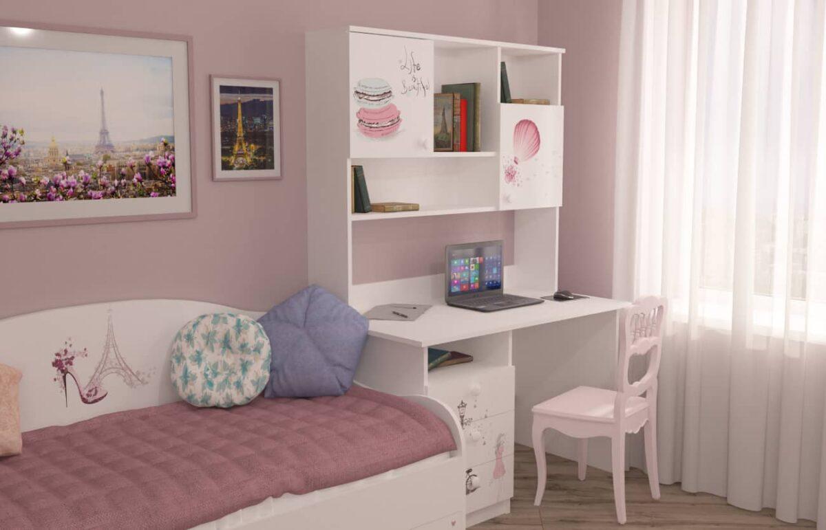 стол и кровать в детскую Париж