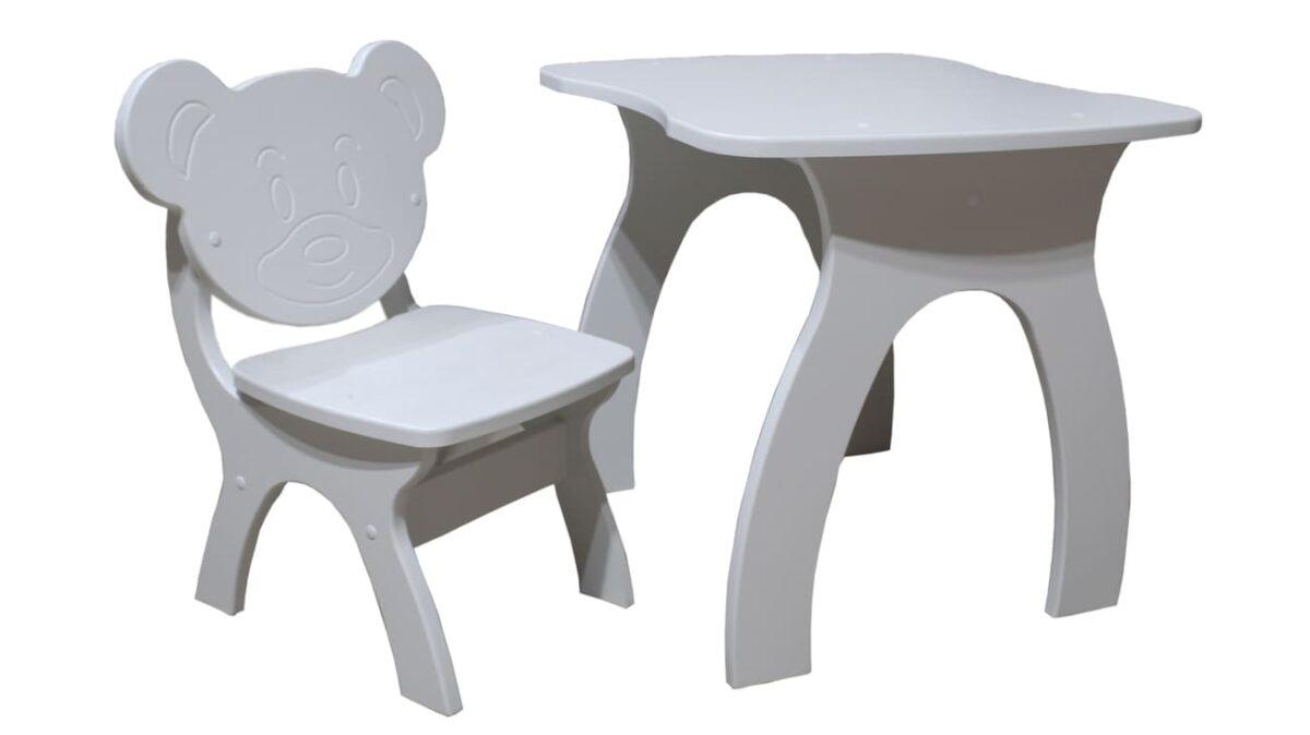 столик и стульчик мишка