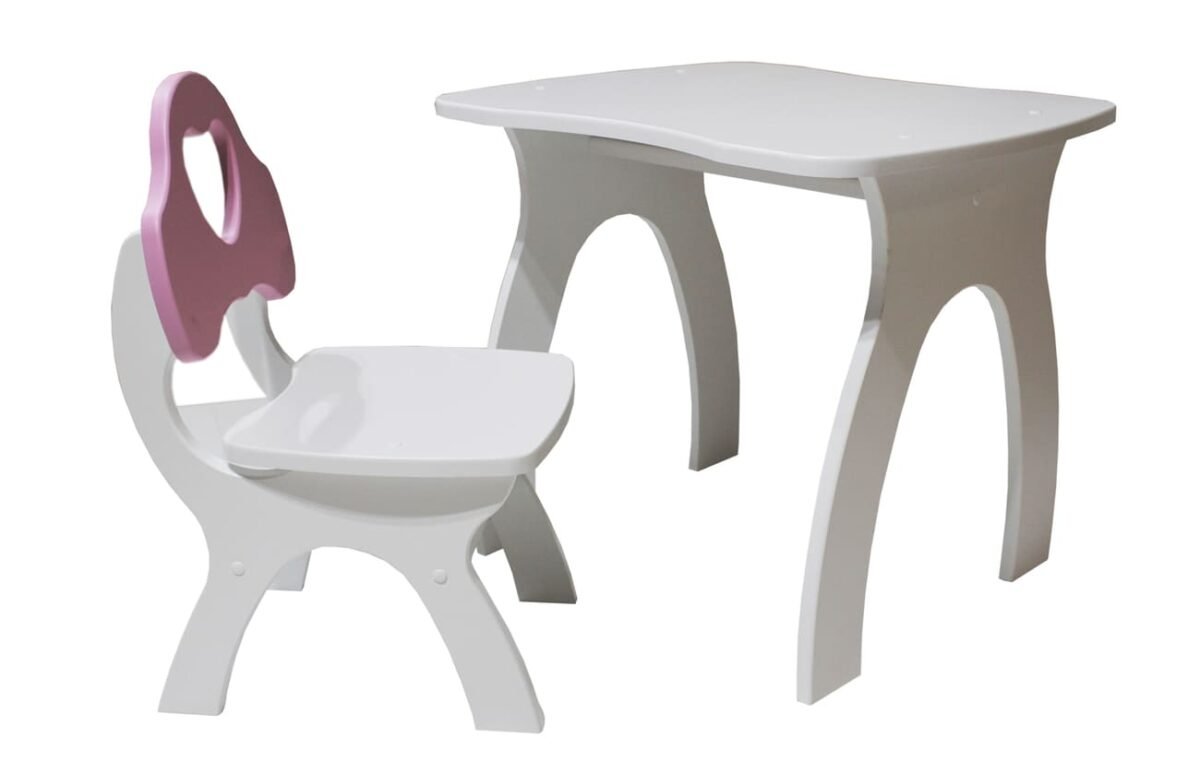 стульчик и столик сердце