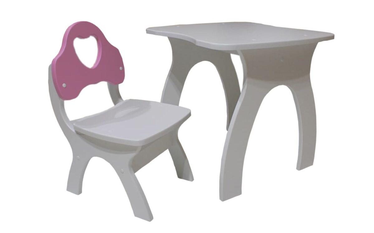 стульчик и столик сердечко