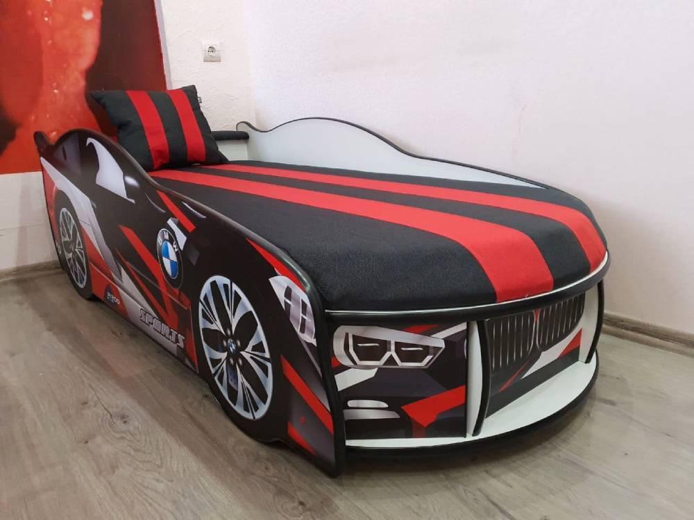 кровать машина бмв космос красная