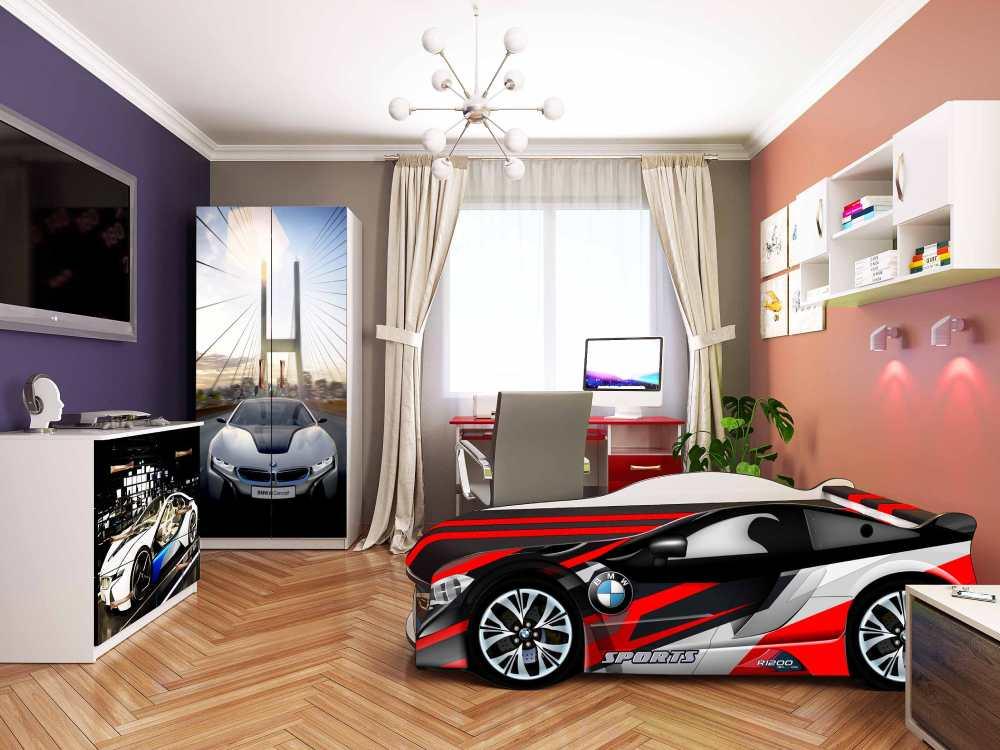 интерьер комнаты для подростка с кроватью