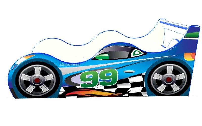 Кровать машинка Драйв 99 синяя