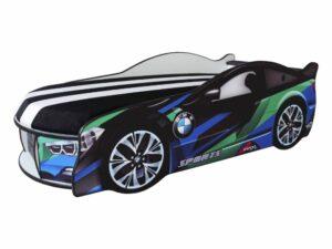 кровать в виде машины БМВ сине-зеленая