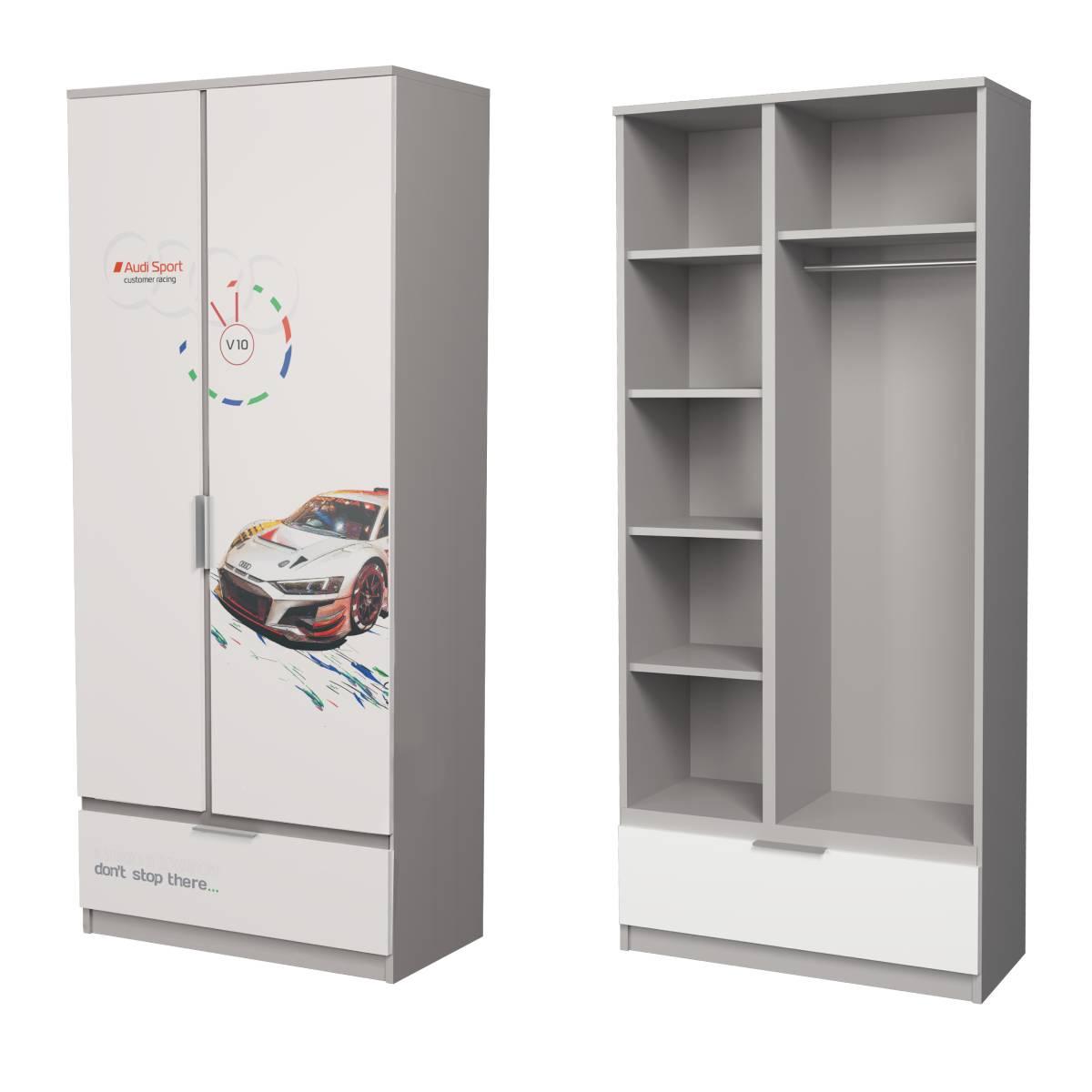Детский шкаф ауди алюминий