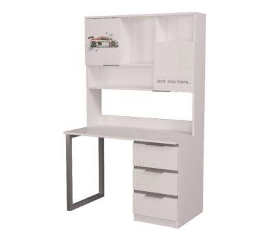стол с надстройкой белый с серым