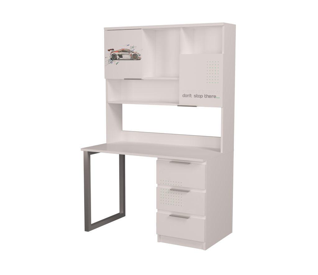 стол с надстройкой белый