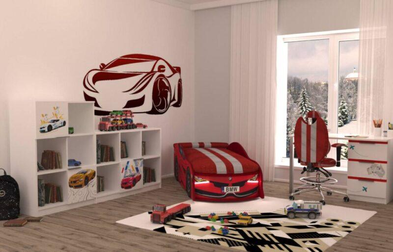 детская комната бмв турбо красная