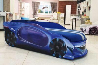 кровать с матрасом мерседес дримс синяя