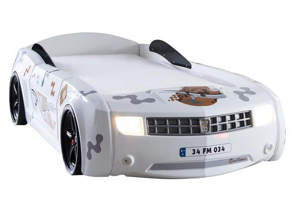 ліжко машина шевроле камаро біла
