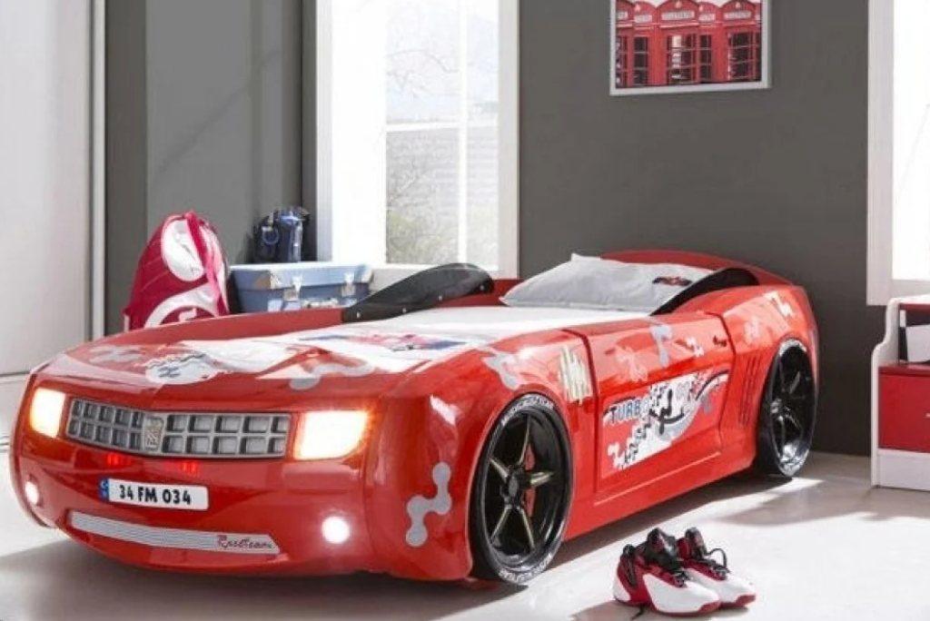 ліжко машина шевроле камаро червона