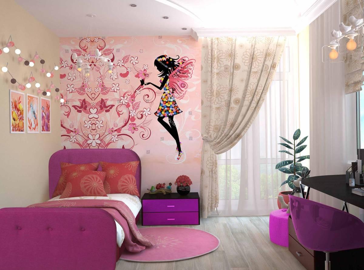 детская кровать тедди розовая в интерьере