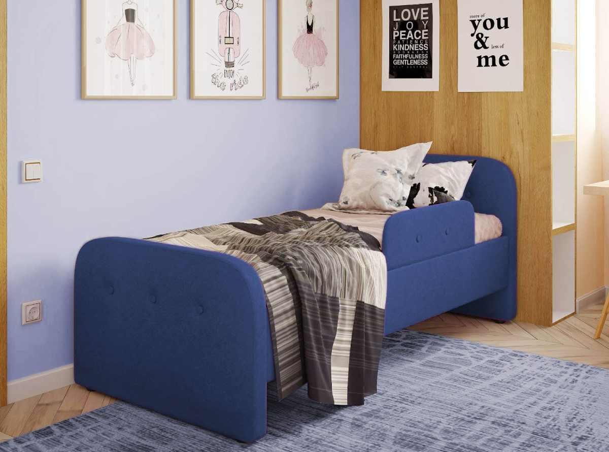 детская кровать тедди синяя