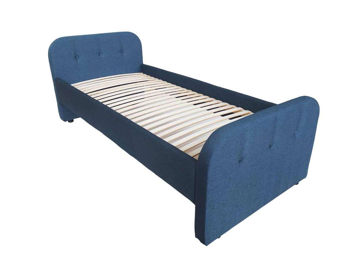 детская кровать тедди синяя сбоку
